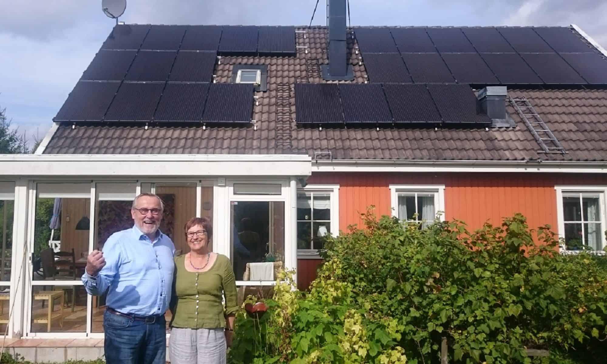 28 solpaneler ger 7500 kWh/år