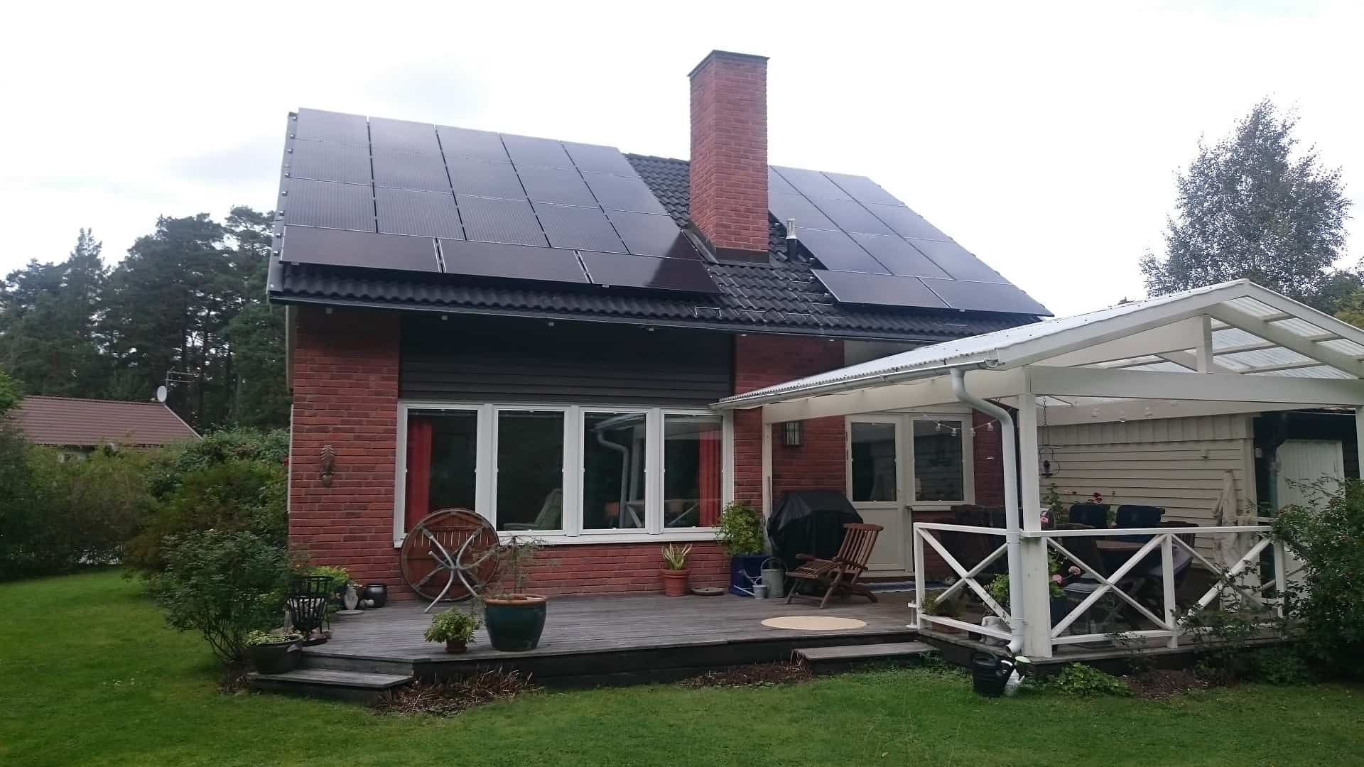 Hartrajet 14 - 29 solpaneler, ca 7500 kWh/år