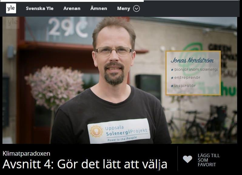2.40 min in i programmet ser du inslaget om Uppsala Solenergiprojekt